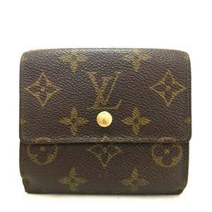 Auth Louis Vuitton Portefeiulle Elise #1037L35